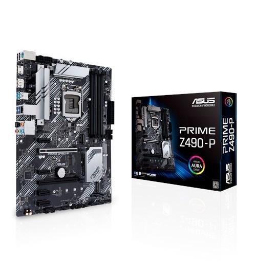 ASUS PRIME Z490-P INTEL Z490 (LGA 1200) ATX 4XDDR4-4600 MHz PCI-E3.0 USB3.2 M.2 RAID HDMI/DISPLAY PORT