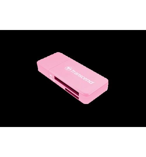 TRANSCEND TS-RDF5K USB 3.0 SDHC/SDXC/microSDHC/SDXC CARD READER PINK