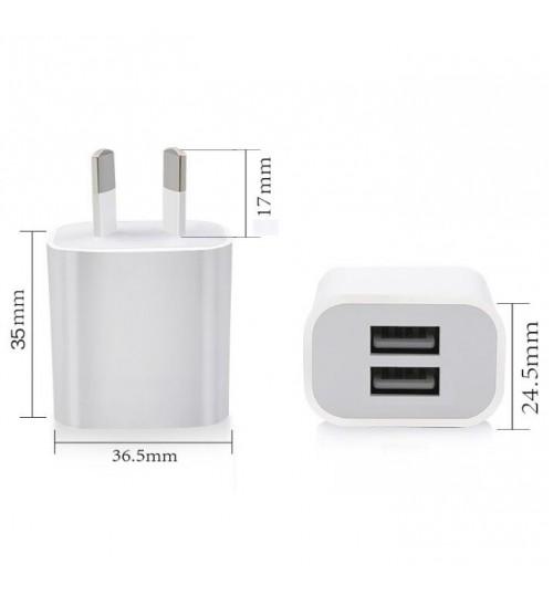 5V 2A Dual USB Power Adapter Wall Charger AU/NZ Plug