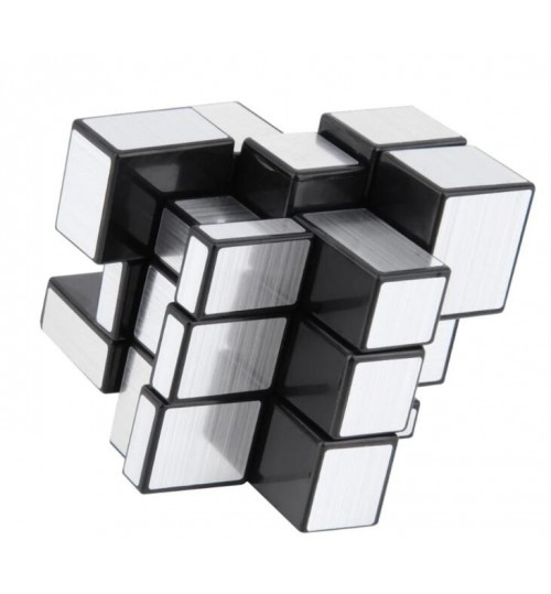 Rubiks Cube 3x3 Silver Mirror Magic Cube