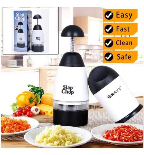 Manual Garlic Press Crusher Squeezer Slap Chop Food Chopper
