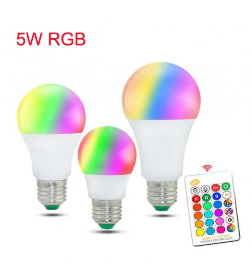 RGB LED Bulb Lights 220V E27