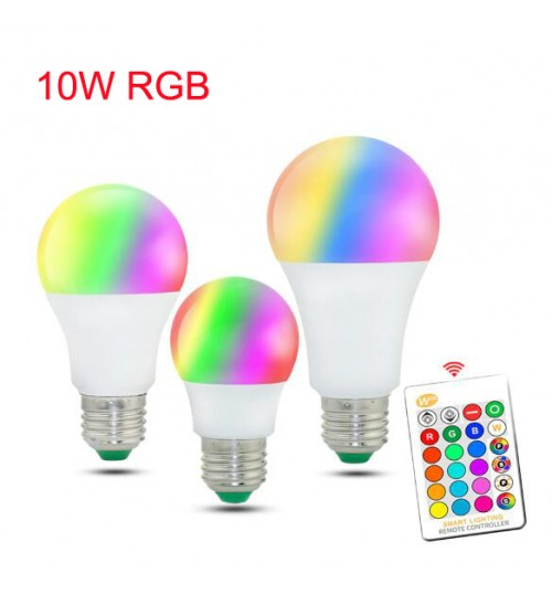 RGB LED Bulb Lights 220V E27 10W