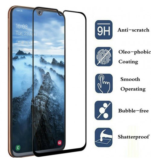 Galaxy A20s Full Screen Tempered Glass Screen Protector
