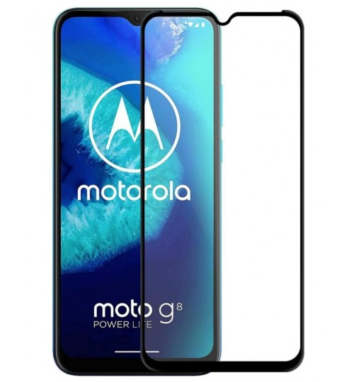 Moto G8 Power Lite fully covered Curved Tempered Glass screen protector