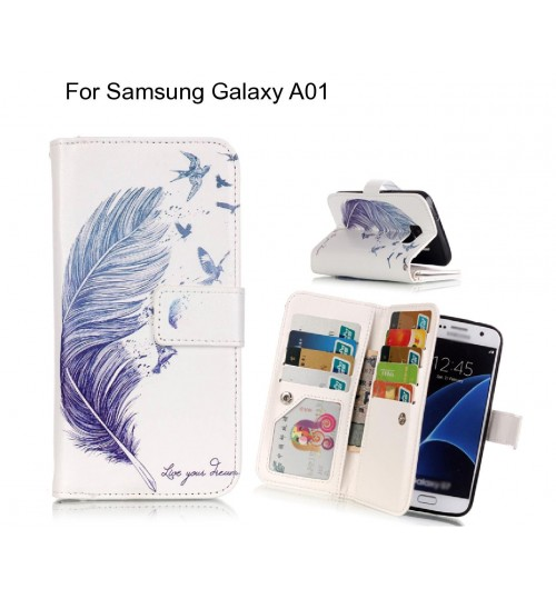 Samsung Galaxy A01 case Multifunction wallet leather case