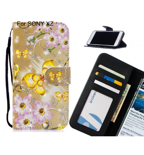 SONY XZ Case Leather Wallet Case 3D Pattern Printed
