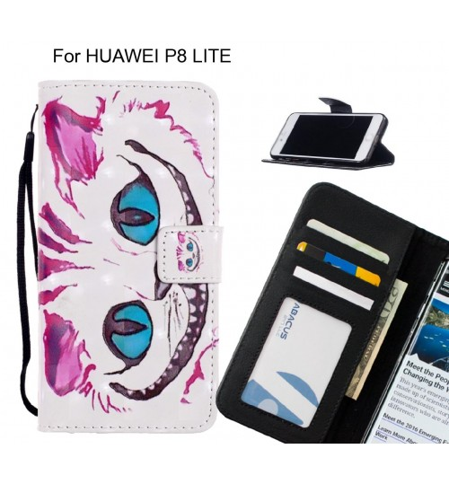HUAWEI P8 LITE Case Leather Wallet Case 3D Pattern Printed