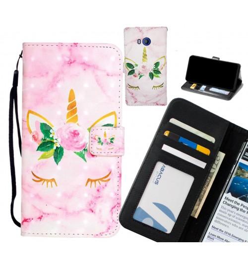 HTC U11 Case Leather Wallet Case 3D Pattern Printed