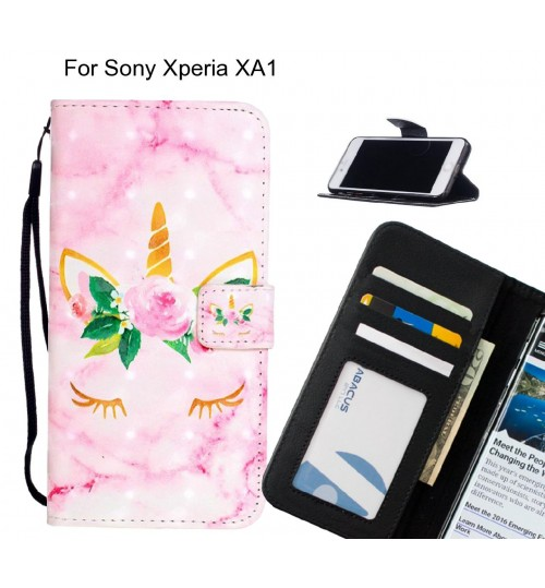 Sony Xperia XA1 Case Leather Wallet Case 3D Pattern Printed