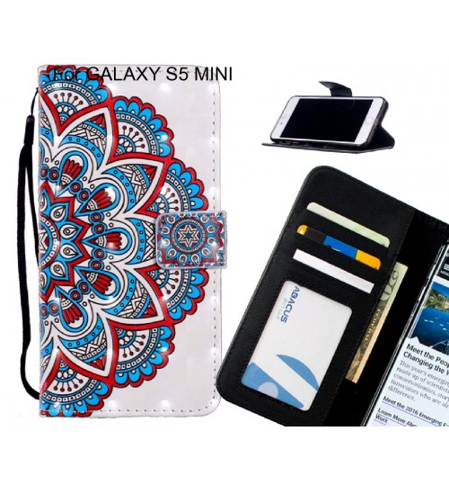 GALAXY S5 MINI Case Leather Wallet Case 3D Pattern Printed