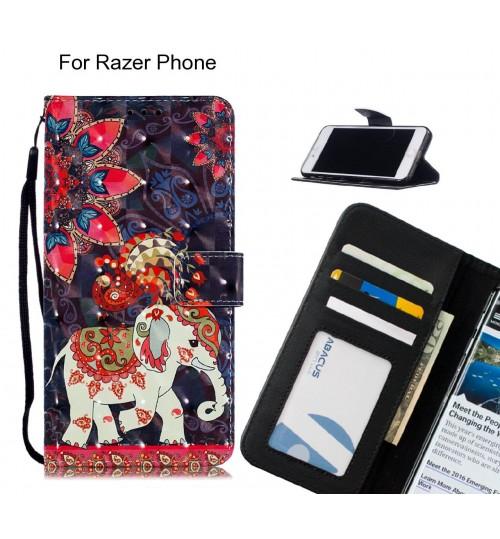 Razer Phone Case Leather Wallet Case 3D Pattern Printed