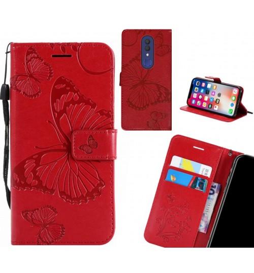 Alcatel 1x case Embossed Butterfly Wallet Leather Case