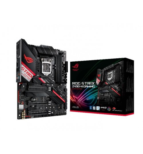 ASUS ROG STRIX Z490-H GAMING INTEL Z490 (LGA 1200) ATX 4XDDR4-4600 MHz PCI-E3.0 USB3.2 M.2 RAID HDMI/DISPLAY PORT