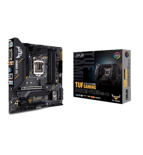 ASUS TUF GAMING B460M-PLUS (WI-FI) INTEL B460 (LGA 1200) M-ATX 4XDDR4-2933 MHz PCI-E3.0 USB3.2 M.2 RAID DVI-D/HDMI/DISPLAY PORT