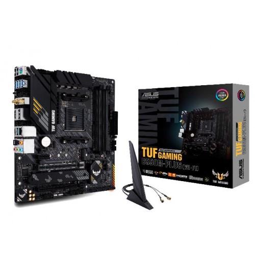 ASUS TUF GAMING B550M-PLUS (WI-FI) AMD B550 AM4 M-ATX 4XDDR4-4600 PCI-E4.0 SATA3 M.2 RAID HDMI DISPLAY PORTS
