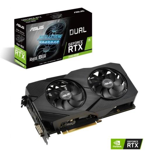 ASUS DUAL-RTX2060S-A8G-EVO-V2 GEFORCE RTX2060 SUPER DDR6 8GB DVI-D+2XHDMI+DP DUAL FAN OVERCLOCK