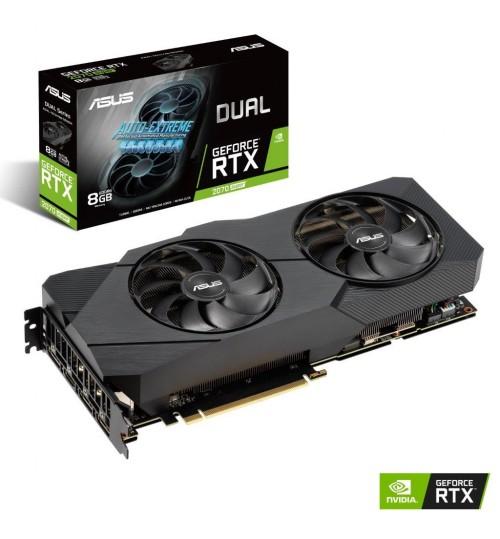 ASUS DUAL GEFORCE RTX 2070 SUPER EVO 8GB GDDR6 PCI-E 3.0 HDMI DISPLAY PORT HDCP