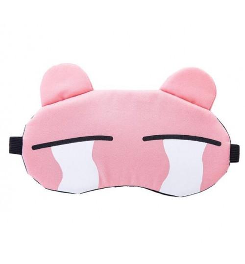 Cartoon eye sleep mask with cold gel pad