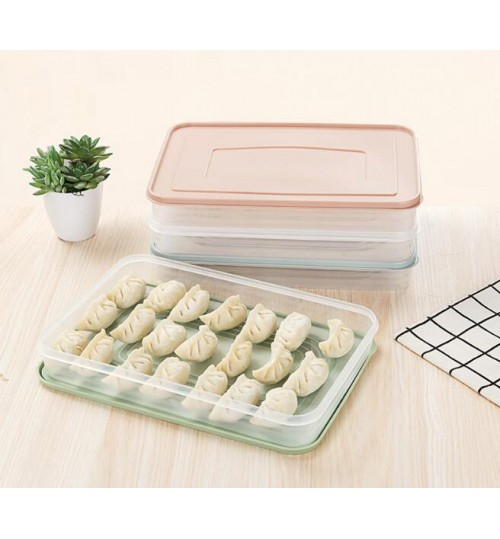Food Dumpling Refrigerator Storage Box Plastic Container
