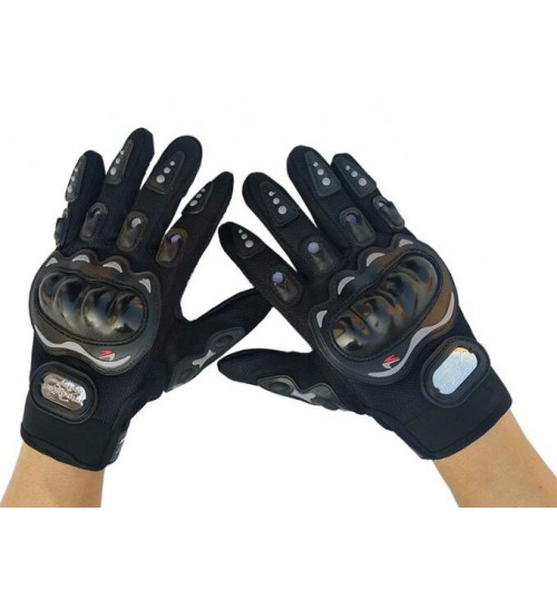 Motorcycle Gloves Moto Anticolition Protective Gear Mesh Bike Full Finger