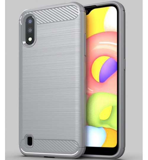 Samsung Galaxy A01 case rugged case with carbon fiber