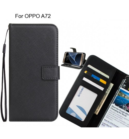 OPPO A72 Case Wallet Leather ID Card Case
