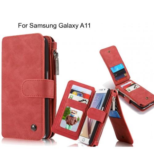 Samsung Galaxy A11 Case Retro leather case multi cards