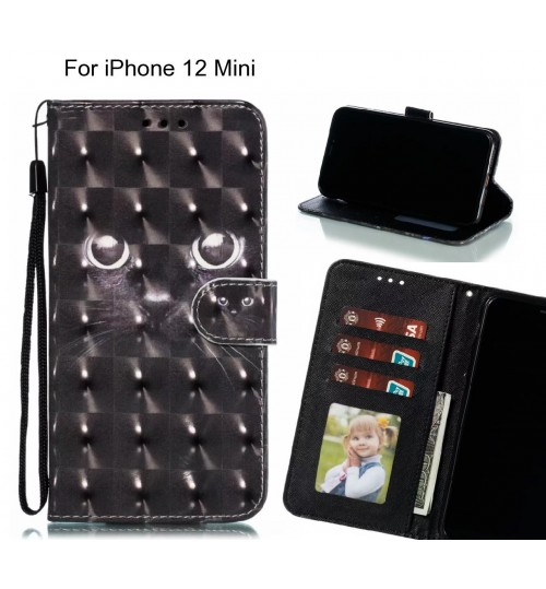iPhone 12 Mini Case Leather Wallet Case 3D Pattern Printed