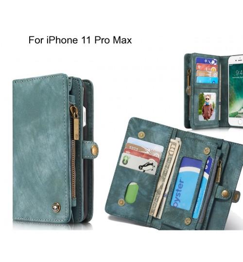 iPhone 11 Pro Max Case Retro leather case multi cards