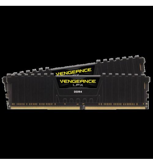 CORSAIR CMK64GX4M2E3200C16 DDR4 3200MHz 64GB 2x32GB DIMM Unbuffered XMP 2.0 Vengeance LPX black Heatspreader Black PCB 1.35V