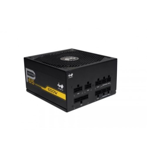 In-Win P Series P65 650W 80+ Gold Full Modular Low Noise 135mm Smart Fan Control PC ATX Power Supply Unit