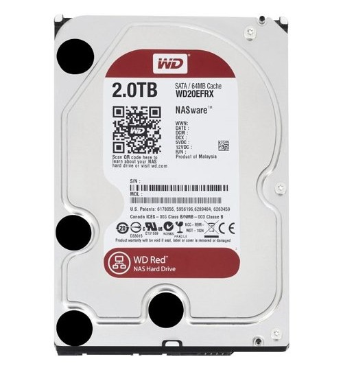 WD RED PLUS 2TB SATA3 64MB CACHE FOR NAS