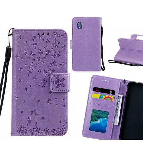 Alcatel 1 Case Embossed Wallet Leather Case