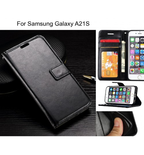 Samsung Galaxy A21S case Fine leather wallet case