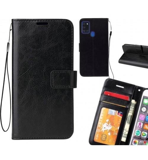 Samsung Galaxy A21S case Fine leather wallet case