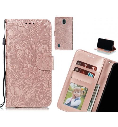 Nokia 1.3 Case Embossed Wallet Slot Case