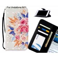 Vodafone N11 Case Leather Wallet Case 3D Pattern Printed