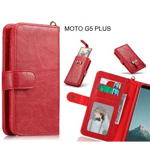 MOTO G5 PLUS Case Premium Multifunction Wallet Leather Case