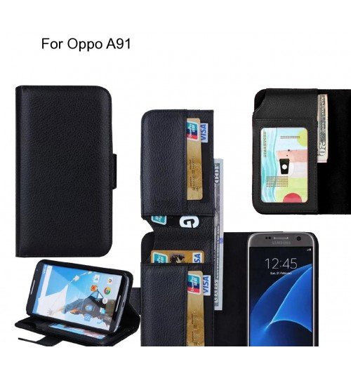 Oppo A91 case Leather Wallet Case Cover