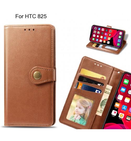 HTC 825 Case Premium Leather ID Wallet Case