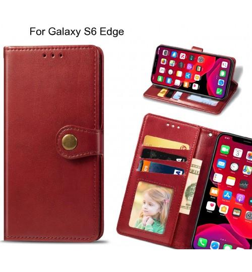 Galaxy S6 Edge Case Premium Leather ID Wallet Case