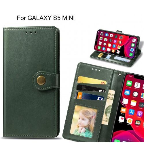 GALAXY S5 MINI Case Premium Leather ID Wallet Case