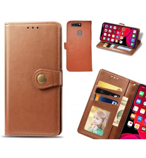 Huawei P9 Plus Case Premium Leather ID Wallet Case
