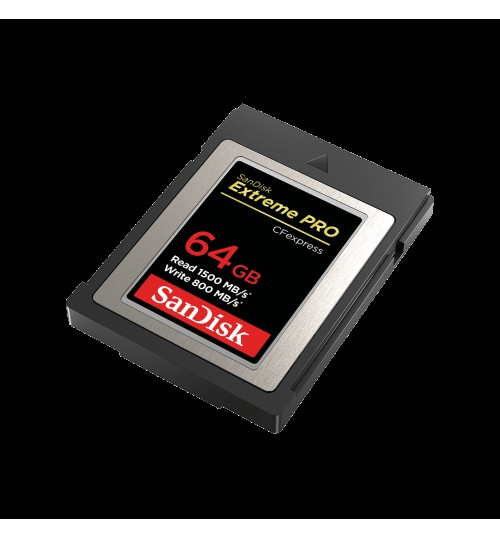 SANDISK EXTREME PRO CFEXPRESS CARD TYPE B SDCFE 64GB 1500MB/S R 800MB/S W 4X6 LIMITED LIFETIME
