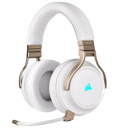 CORSAIR VIRTUOSO RGB WIRELESS HIGH-FIDELITY GAMING HEADSET - PEARL