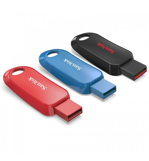 SANDISK CRUZER SNAP USB FLASH DRIVE CZ62 16GB USB2.0 3-PACK BLACK/BLUE/RED RETRACTABLE DESIGN 5Y