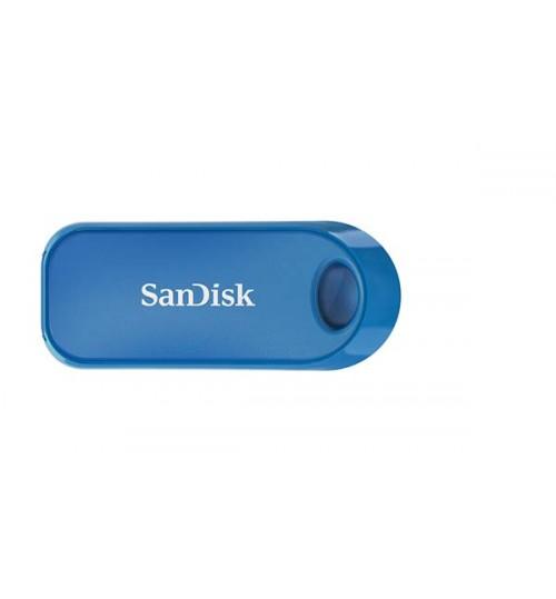 SANDISK CRUZER SNAP USB FLASH DRIVE CZ62 32GB USB2.0 BLUE RETRACTABLE DESIGN 5Y