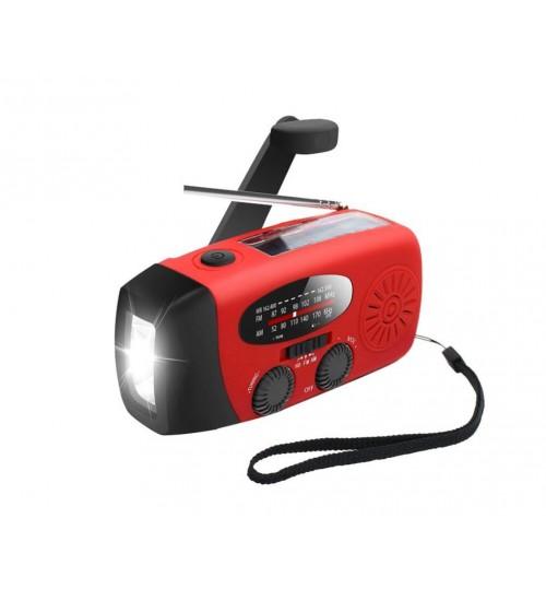 Emergency Solar Hand Crank AM/FM Radio Flashlight