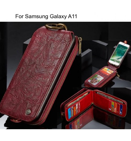 Samsung Galaxy A11 case premium leather multi cards case